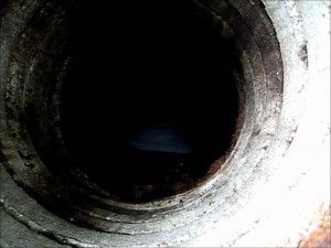 sewer pipe view