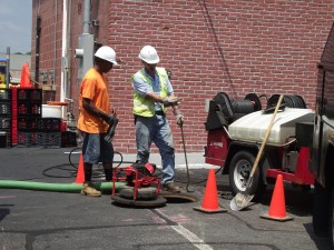 water sewer workers